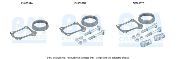 Kit de montage d'echappement BM CATALYSTS FK80357 (X1)