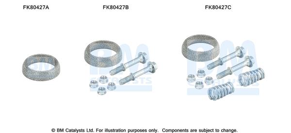 Kit de montage d'echappement BM CATALYSTS FK80427 (X1)