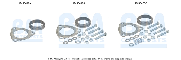 Kit de montage d'echappement BM CATALYSTS FK90400 (X1)