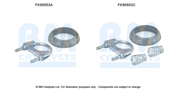 Kit de montage d'echappement BM CATALYSTS FK90553 (X1)