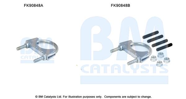 Kit de montage d'echappement BM CATALYSTS FK90848 (X1)