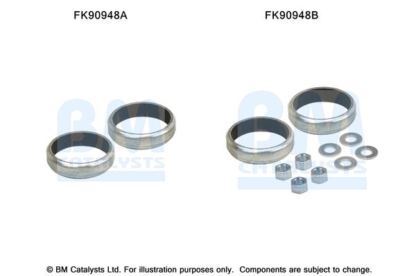 Kit de montage d'echappement BM CATALYSTS FK90948 (X1)
