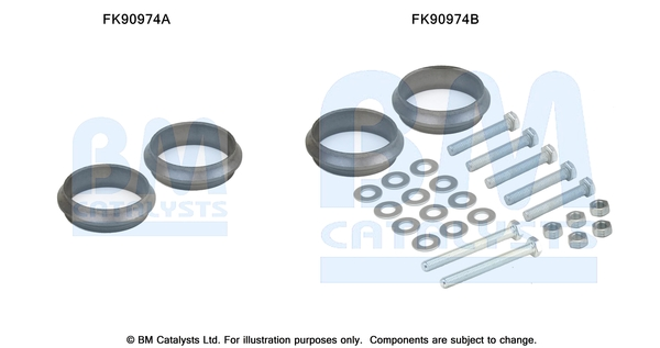 Kit de montage d'echappement BM CATALYSTS FK90974 (X1)