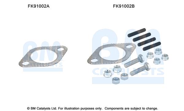 Kit de montage d'echappement BM CATALYSTS FK91002 (X1)
