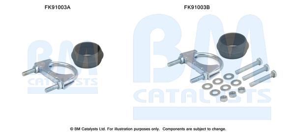 Kit de montage d'echappement BM CATALYSTS FK91003 (X1)