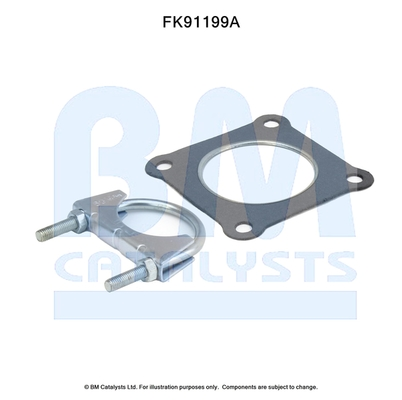 Kit de montage d'echappement BM CATALYSTS FK91199 (X1)