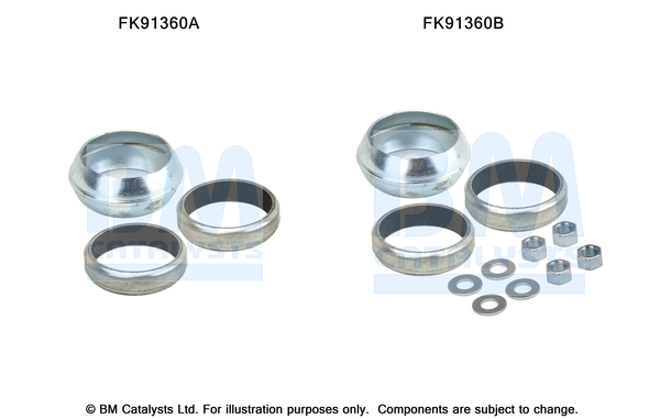 Kit de montage d'echappement BM CATALYSTS FK91360 (X1)