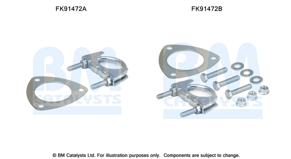 Kit de montage d'echappement BM CATALYSTS FK91472 (X1)