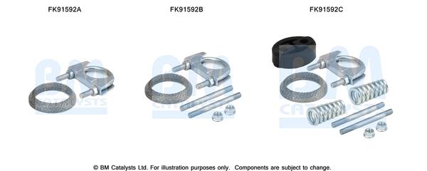 Kit de montage d'echappement BM CATALYSTS FK91592 (X1)