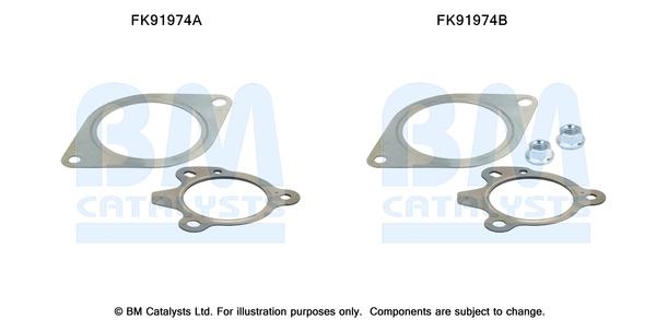 Kit de montage d'echappement BM CATALYSTS FK91974 (X1)