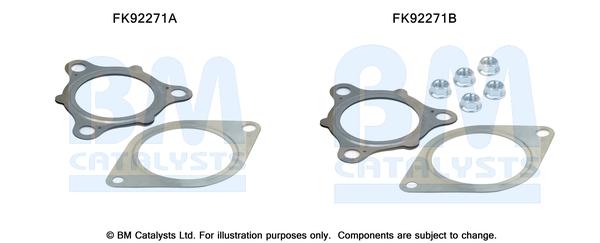 Kit de montage d'echappement BM CATALYSTS FK92271 (X1)