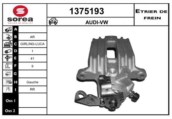 Etrier de frein arriere SNRA 1375193 (X1)