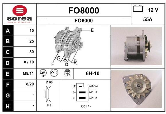 Alternateur SNRA FO8000 (X1)