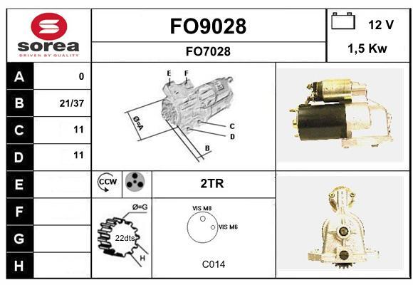 Demarreur SNRA FO9028 (X1)