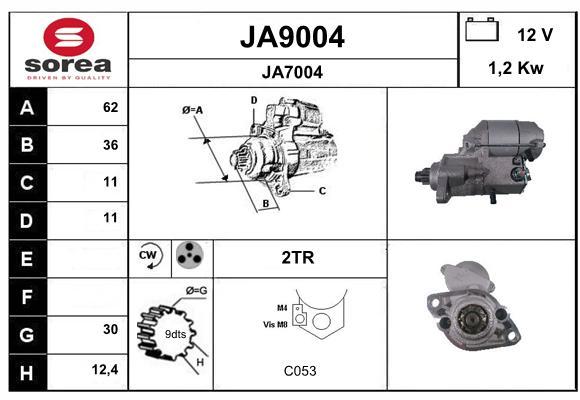 Demarreur SNRA JA9004 (X1)