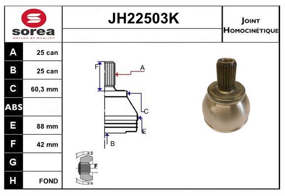 Freinage SNRA JH22503K (X1)