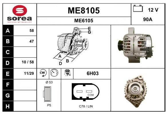 Alternateur SNRA ME8105 (X1)