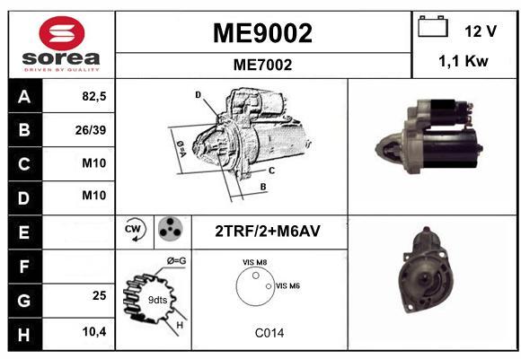 Demarreur SNRA ME9002 (X1)