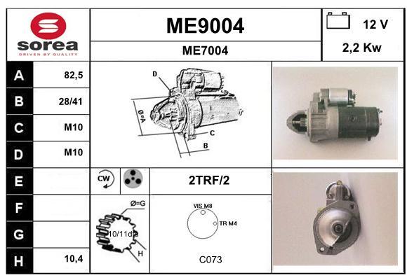 Demarreur SNRA ME9004 (X1)