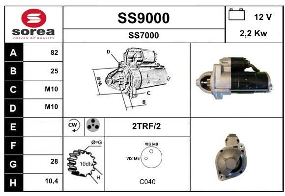 Demarreur SNRA SS9000 (X1)