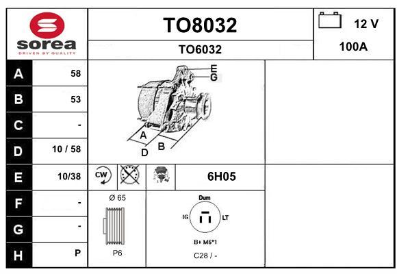 Alternateur SNRA TO8032 (X1)