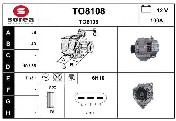 Alternateur SNRA TO8108 (X1)