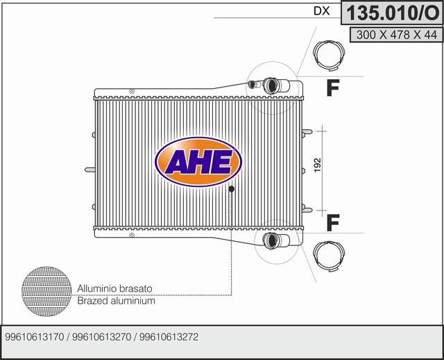Radiateur de refroidissement AHE 135.010/O (X1)