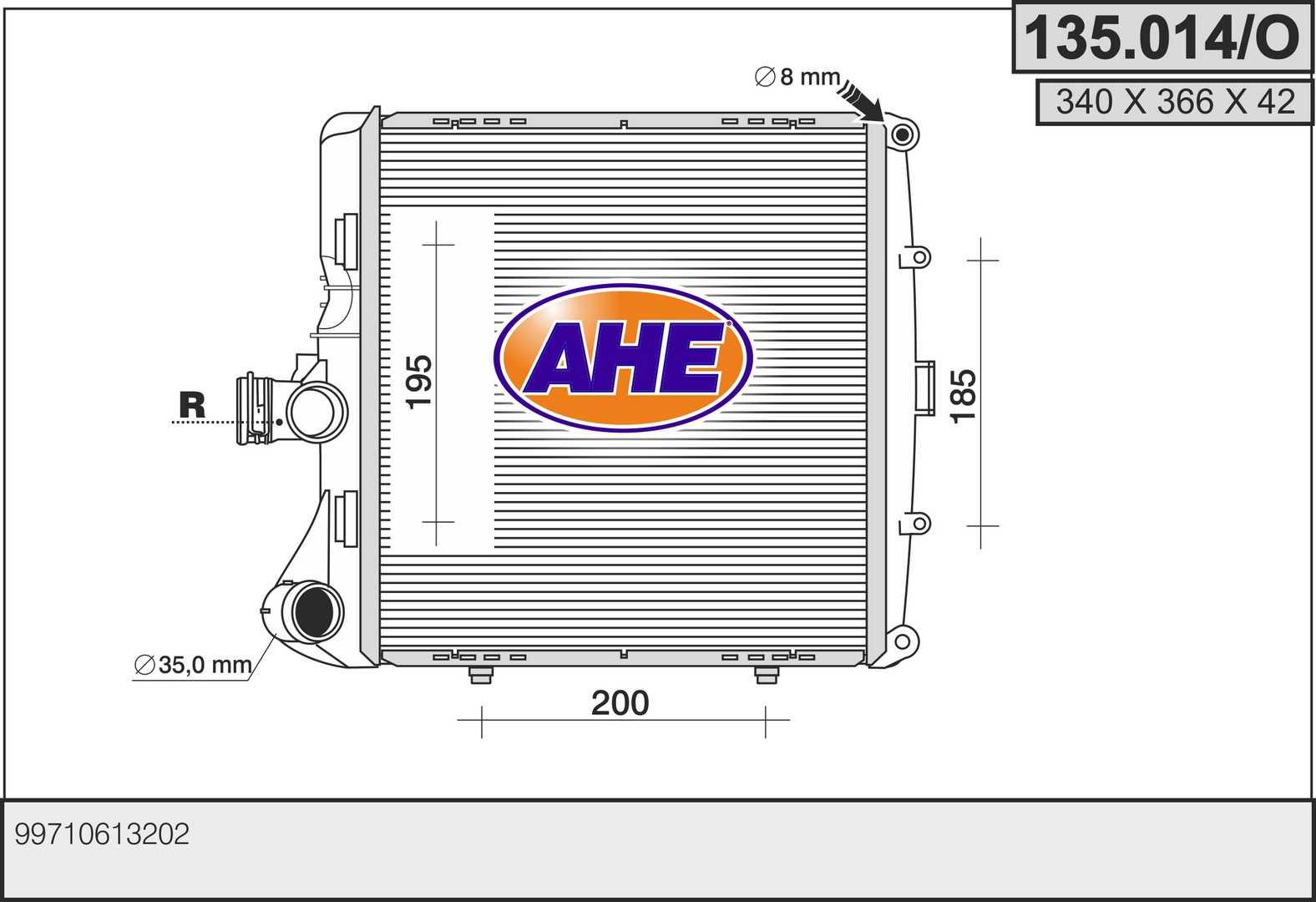 Radiateur de refroidissement AHE 135.014/O (X1)