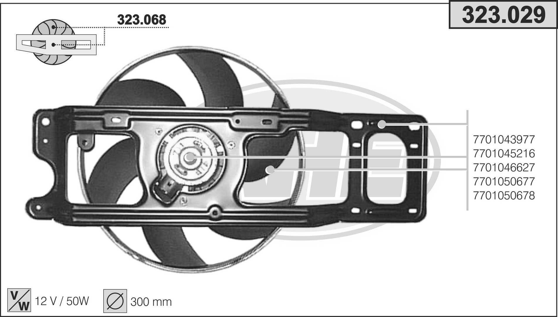 Ventilateur de radiateur AHE 323.029 (X1)