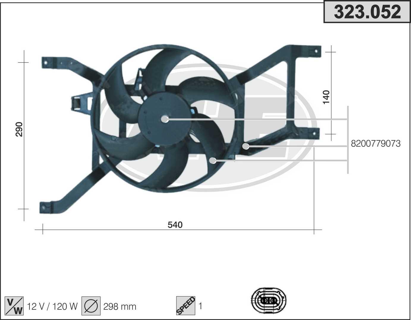 Ventilateur de radiateur AHE 323.052 (X1)