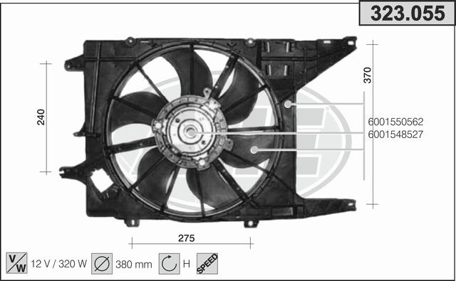 Ventilateur de radiateur AHE 323.055 (X1)
