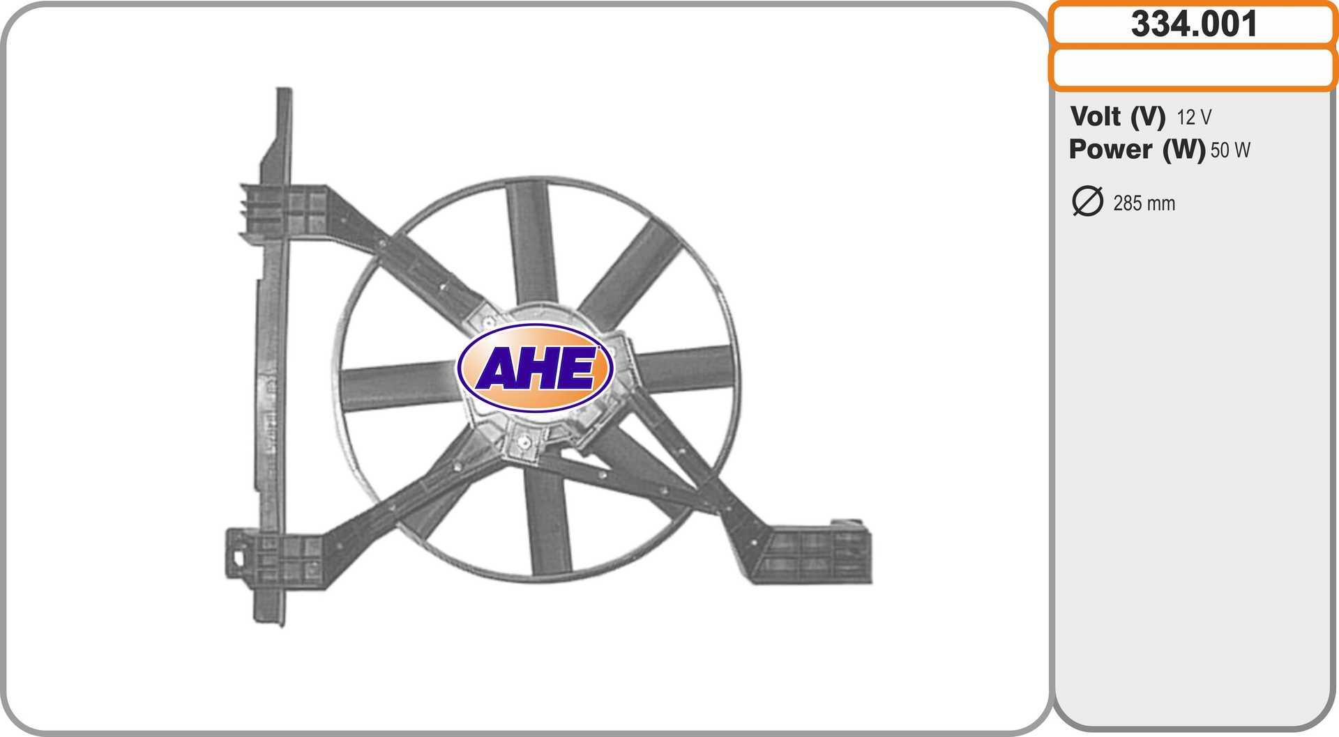 Ventilateur de radiateur AHE 334.001 (X1)