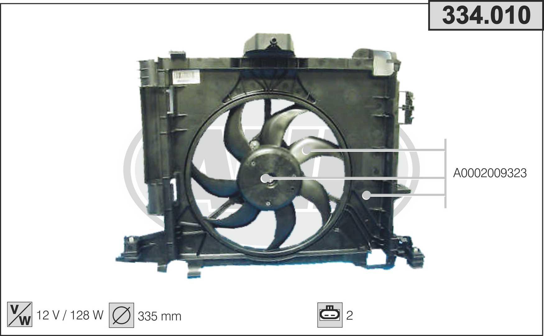 Ventilateur de radiateur AHE 334.010 (X1)
