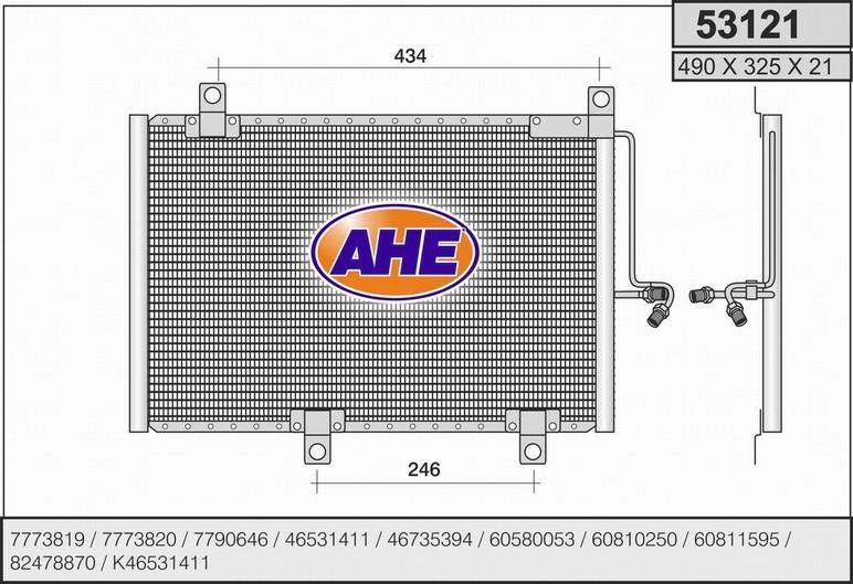Condenseur / Radiateur de climatisation AHE 53121 (X1)