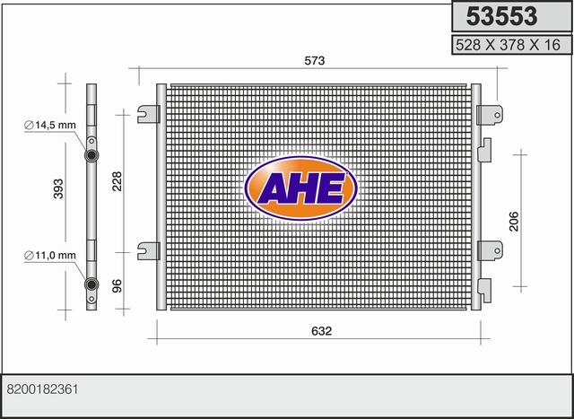 Condenseur / Radiateur de climatisation AHE 53553 (X1)