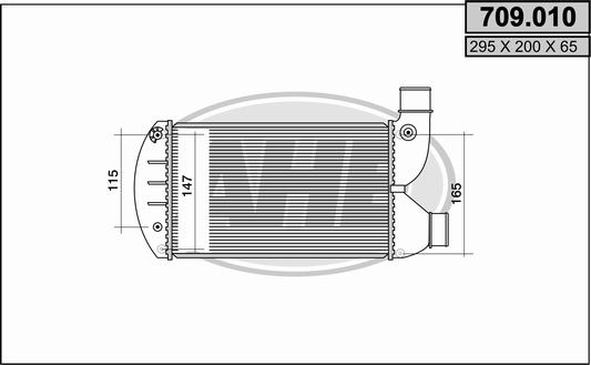 Intercooler radiateur de turbo AHE 709.010 (X1)