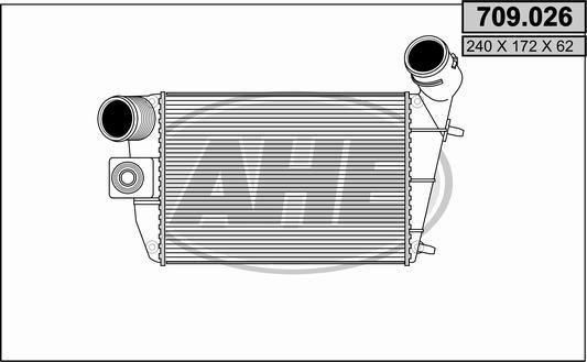 Intercooler radiateur de turbo AHE 709.026 (X1)