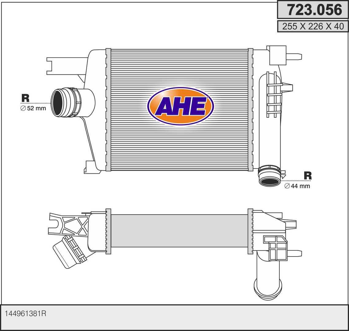 Intercooler radiateur de turbo AHE 723.056 (X1)