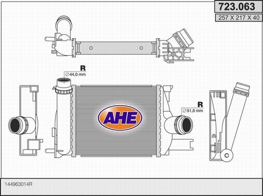 Intercooler radiateur de turbo AHE 723.063 (X1)
