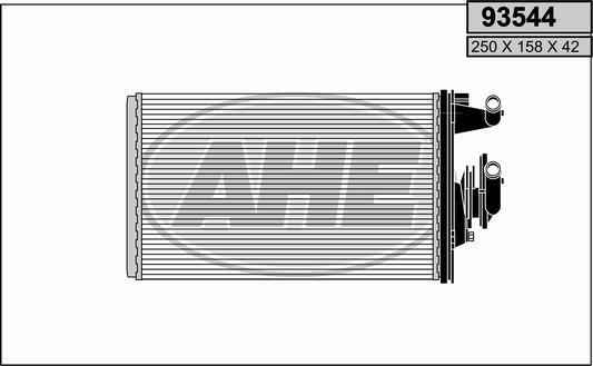 Radiateur de chauffage AHE 93544 (X1)