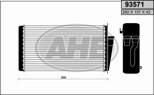 Radiateur de chauffage AHE 93571 (X1)