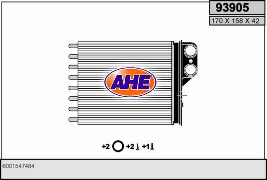 Radiateur de chauffage AHE 93905 (X1)