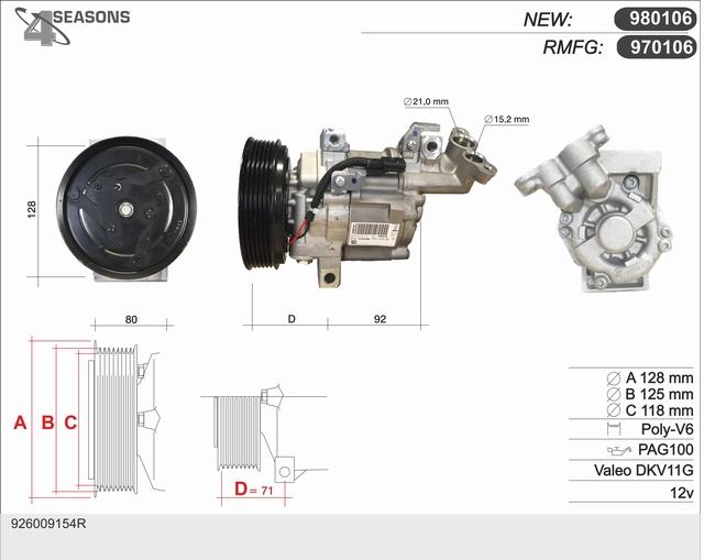 Compresseur AHE 970106 (X1)