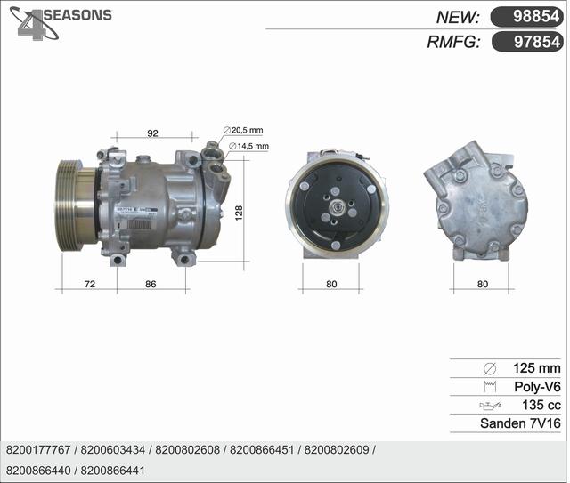 Compresseur AHE 97854 (X1)
