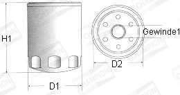 Filtre a huile CHAMPION C165/606 (X1)