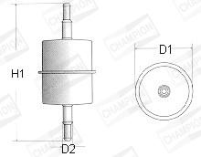 Filtre a carburant CHAMPION L104/606 (X1)