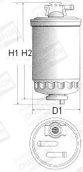 Filtre a carburant CHAMPION L120/606 (X1)
