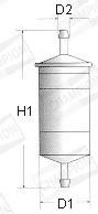 Filtre a carburant CHAMPION L201/606 (X1)