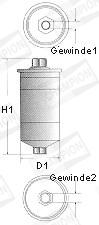Filtre a carburant CHAMPION L203/606 (X1)