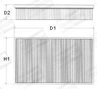 Filtre a air CHAMPION U608/606 (X1)